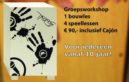 cajonworkshop muziekschool Boedijn Hoorn