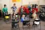 Trommelen op Emmers bij muziekschool Boedijn Hoorn (1)