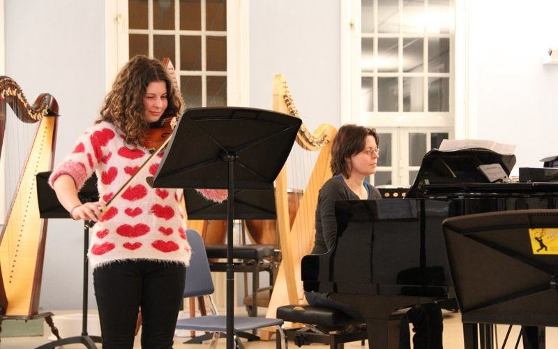 familie voorspeelavond muziekschool Boedijn te Hoorn (Dora en Connie)