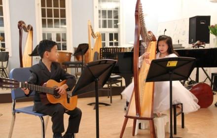 familie voorspeelavond muziekschool Boedijn te Hoorn (Kim en Zhen)
